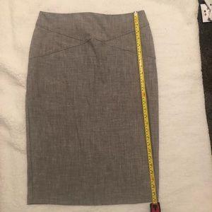 Heather Gray Pencil Skirt
